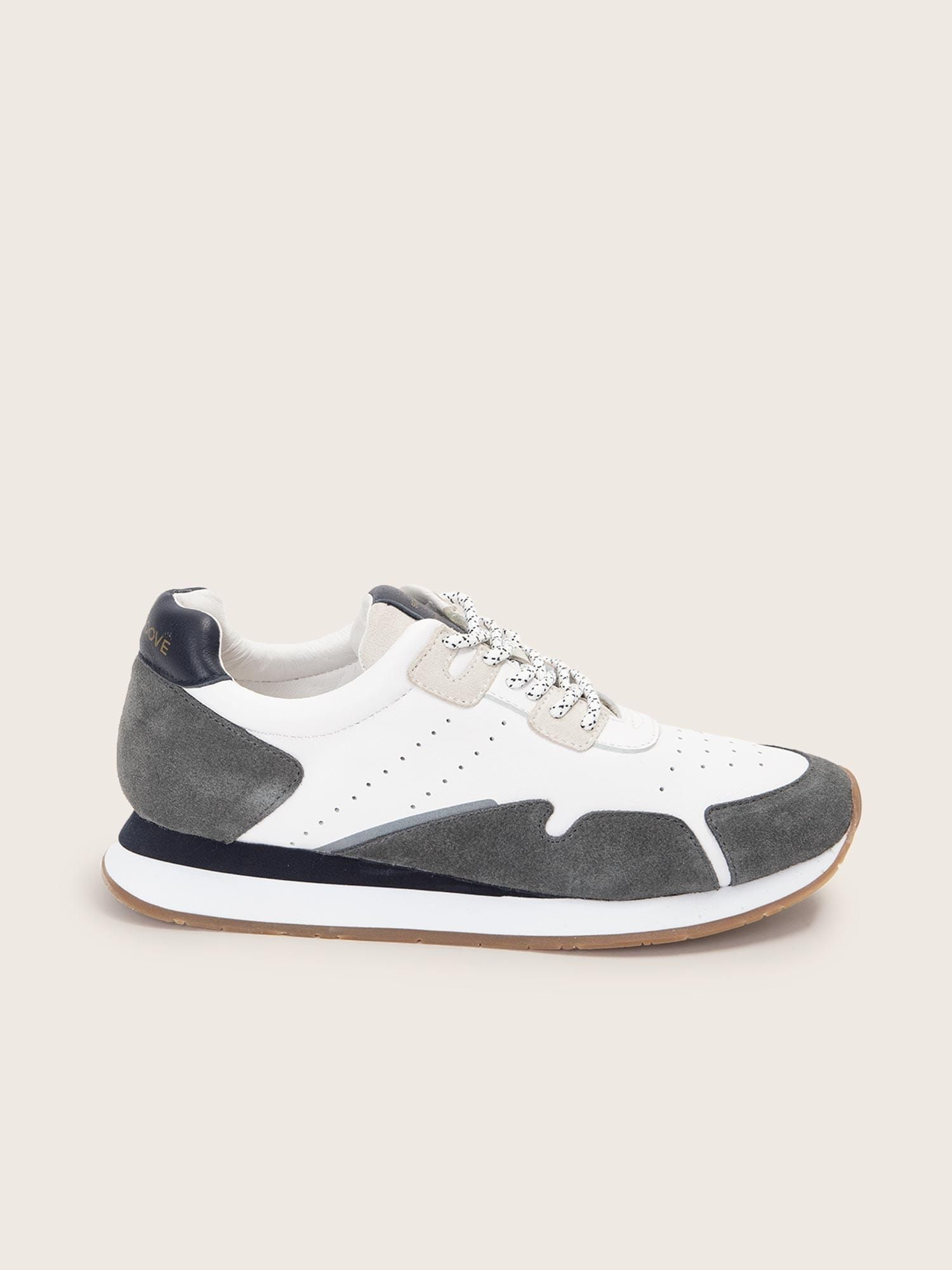 schmoove.fr TRAIL JOGGER - SUEDE/NAPPA - CENDRE/NAVY