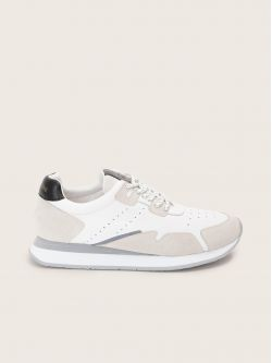 TRAIL JOGGER - SUEDE/NAPPA - WHITE/BLACK