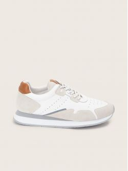 TRAIL JOGGER - SUEDE/NAPPA - WHITE/TAN