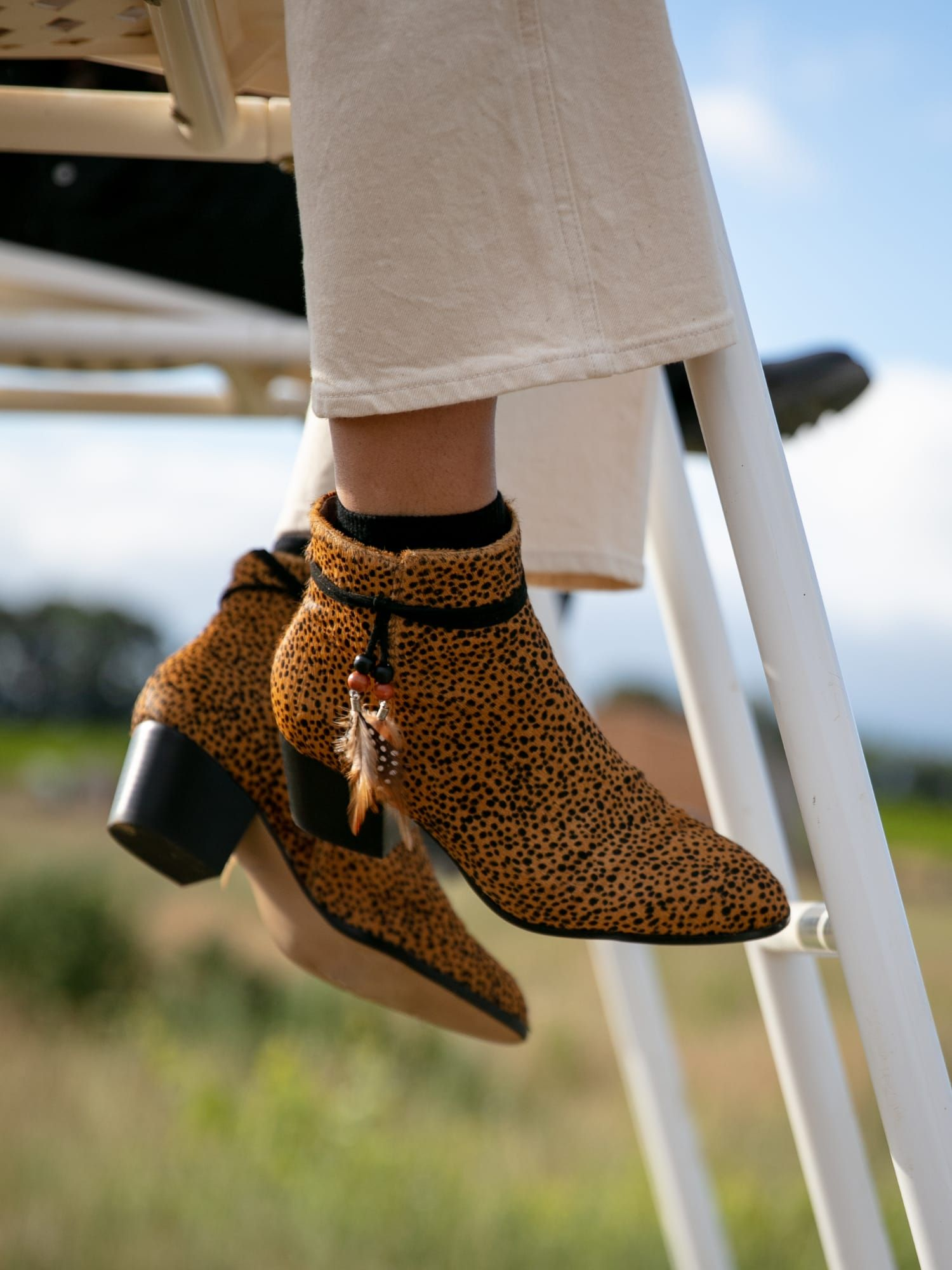 schmoove.fr STORY BOOTS - PONY GUEPARD - CAMEL
