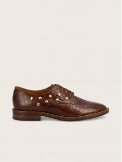 CALL LACE - PRINT CROCO - COGNAC