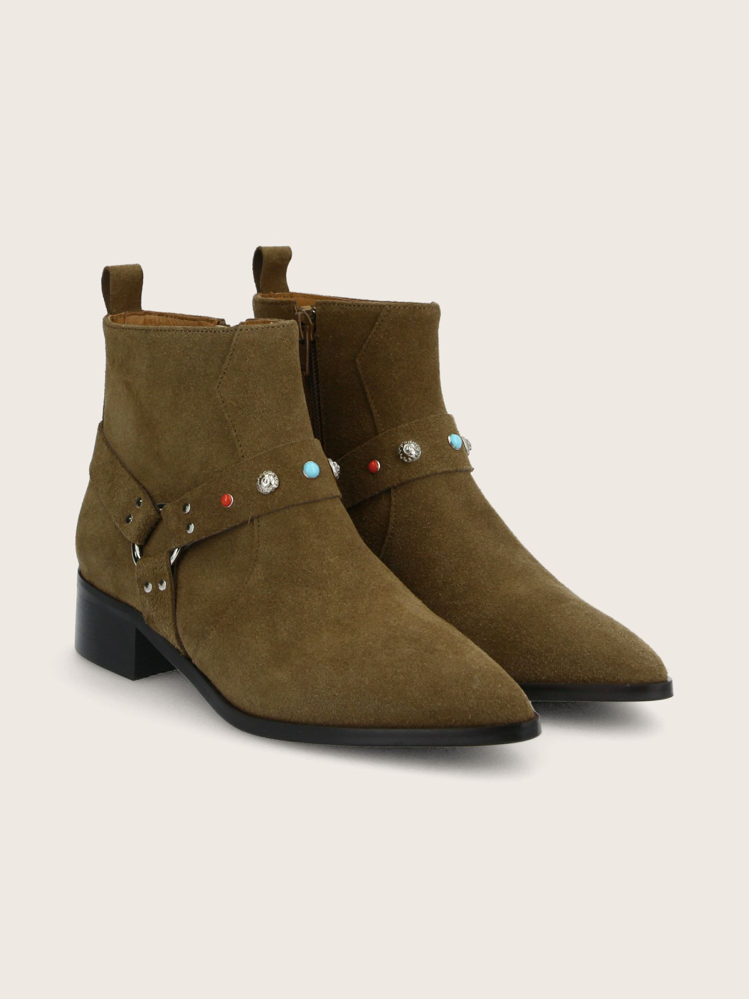 schmoove.fr PHENIX BOOTS - SUEDE - TAUPE