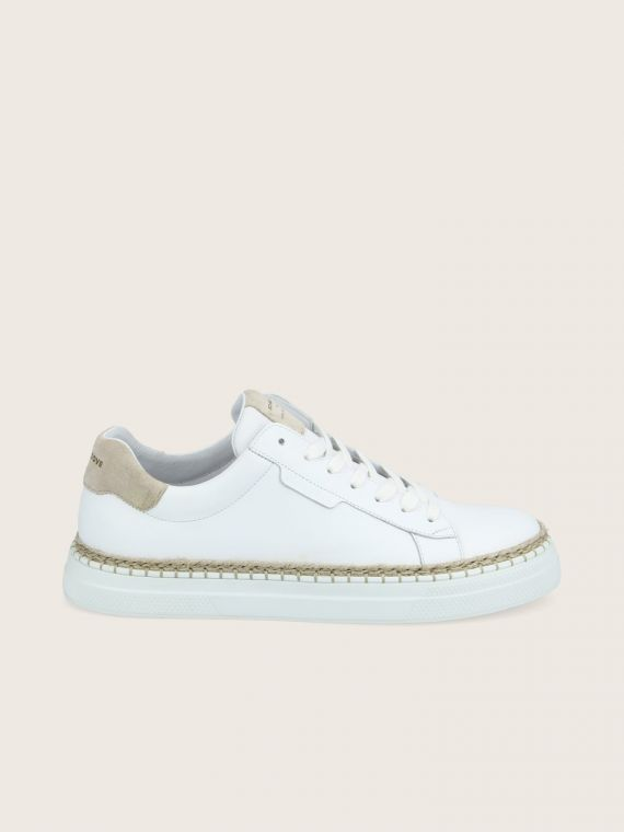 DATA CLAY - NAPPA/SUEDE - WHITE/GREGE