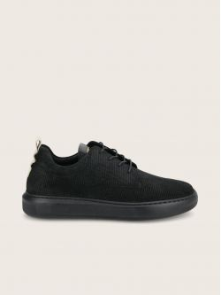 BUMP DERBY - SUEDE PRINT - BLACK