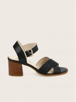 CARLOTA SANDALE - CALF LEATHER - BLACK