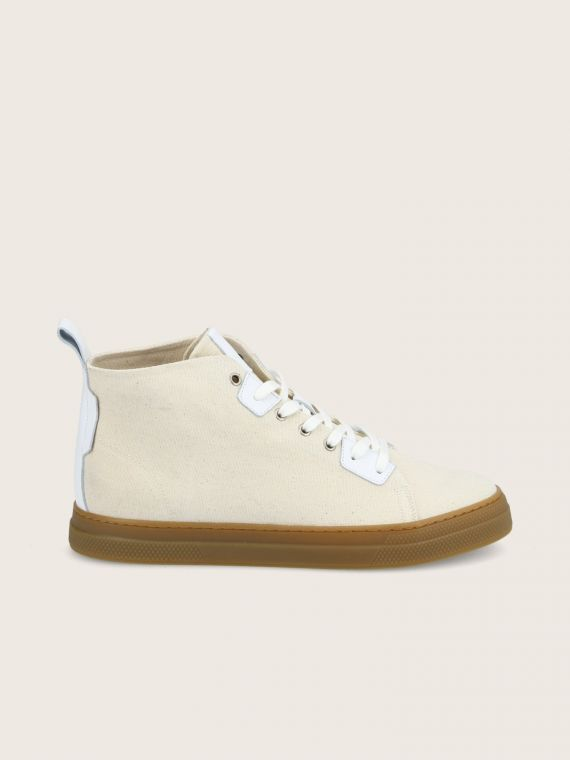 SPARK HIGH CUT - LONA - ECRU SOLE L.GOMME