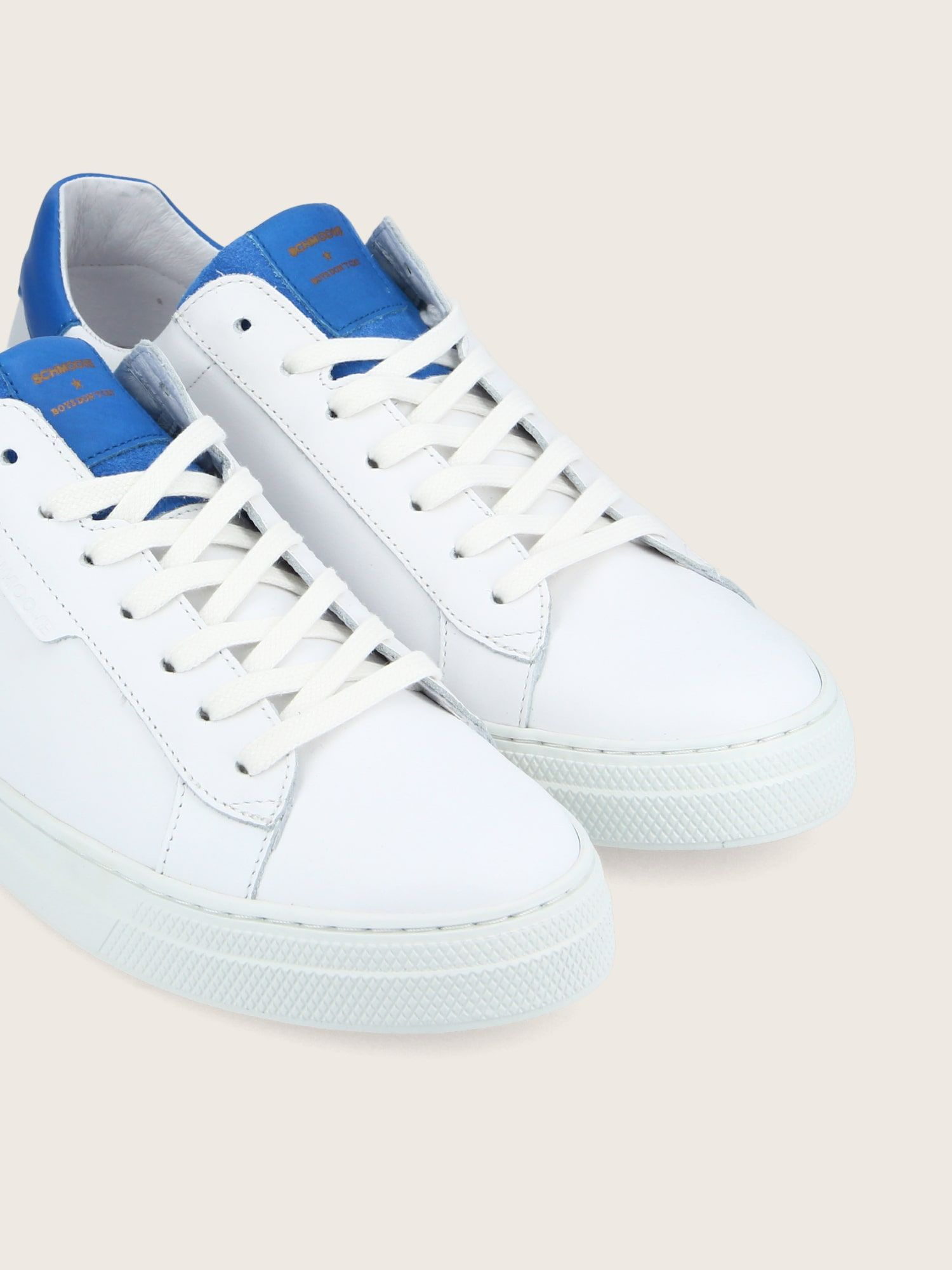 schmoove.fr SPARK CLAY - NAPPA/TONGNAPPA - WHITE/ELECTRIC BLUE