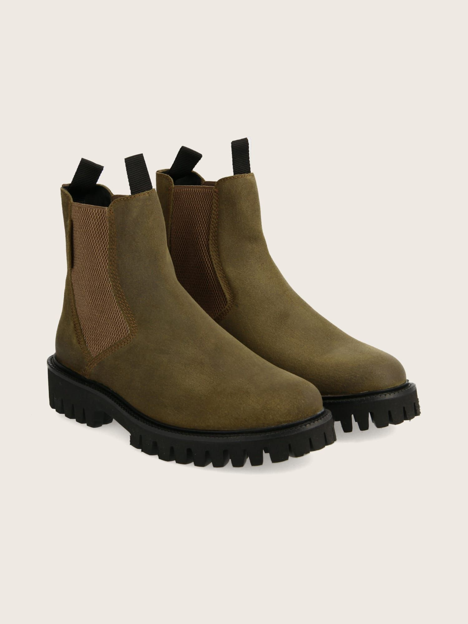 schmoove.fr STOMP CHELSEA - OIL SUEDE - OLIVE