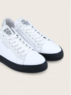 SPARK CLAY - GR.NAPPA/SUEDE - WHITE