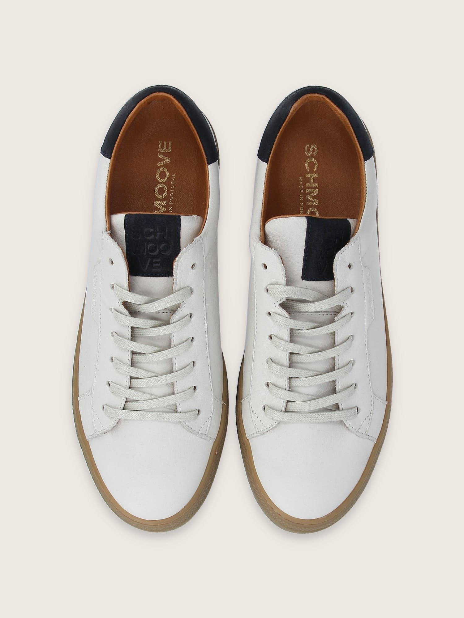 schmoove.fr SPARK CLAY - NAPPA/OIL SUEDE - OFF WHITE/NAVY
