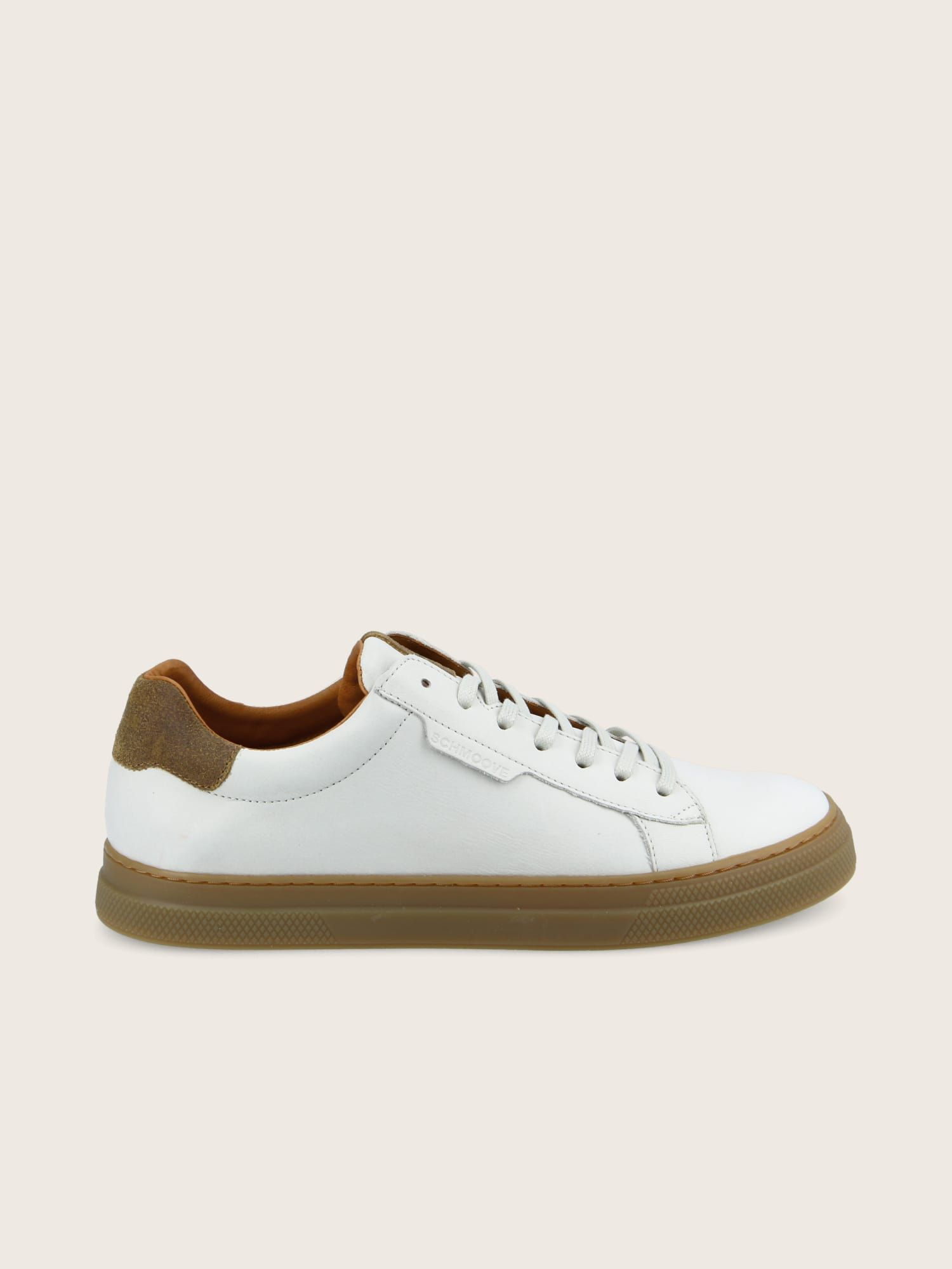 schmoove.fr SPARK CLAY - NAPPA/OIL SUEDE - OFF WHITE/COFFEE