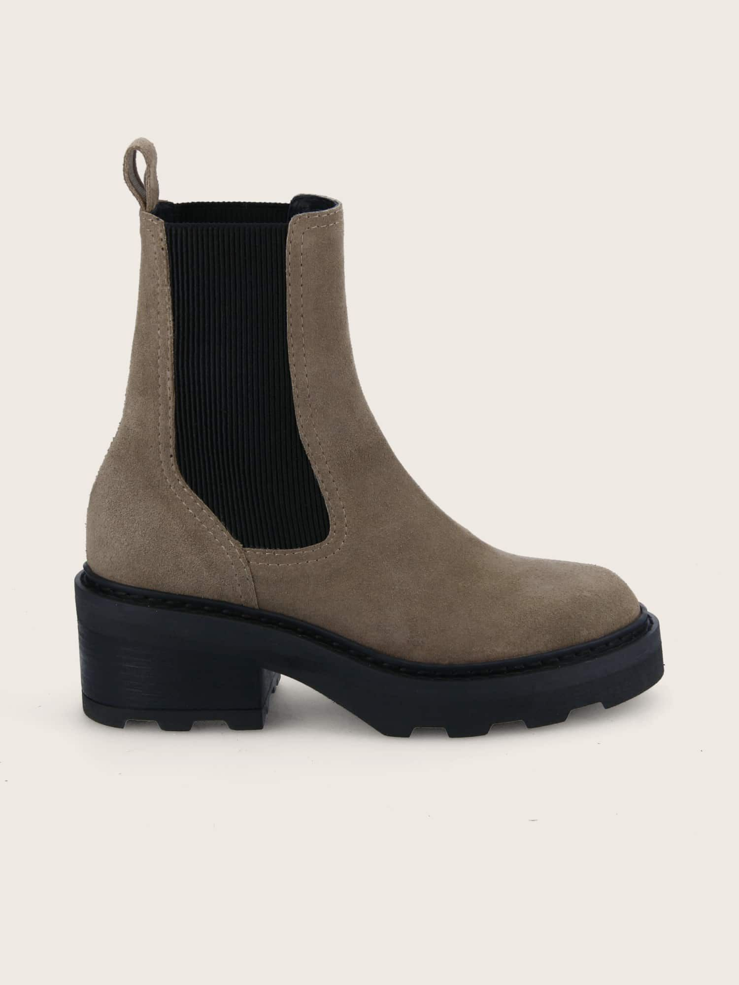 schmoove.fr MIKE CHELSEA - OIL SUEDE - TAUPE