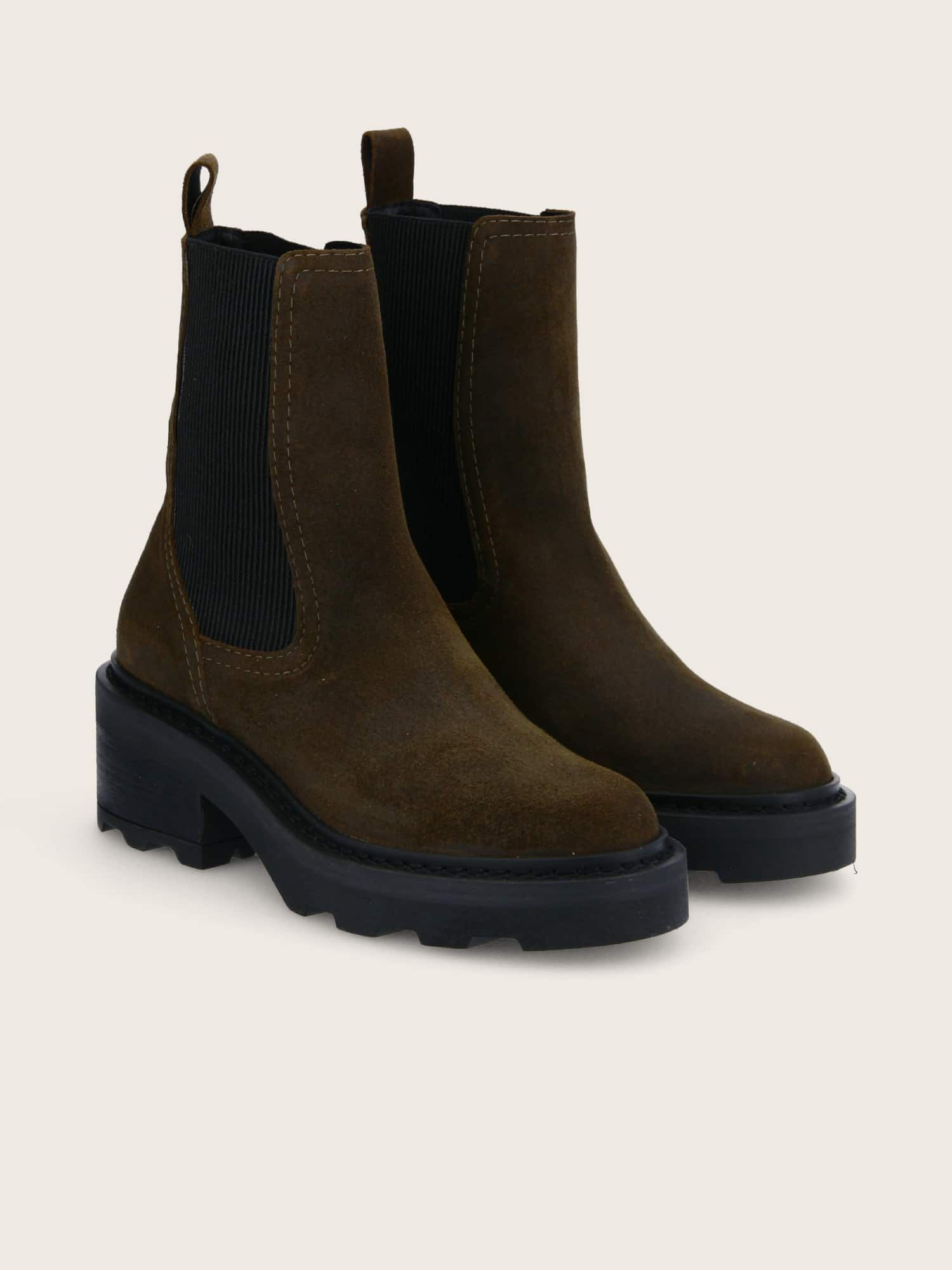 schmoove.fr MIKE CHELSEA - OIL SUEDE - OLIVE