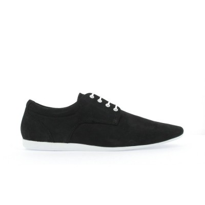 FIDJI NEW DERBY - NUBUCK - BLACK SOLE WHITE